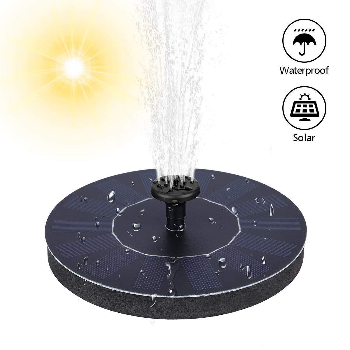 schwimmend solar springbrunnen font ne garten teich. Black Bedroom Furniture Sets. Home Design Ideas