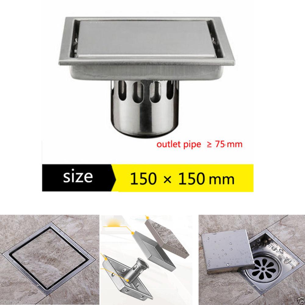 miniatura 16 - PILETTA di scarico in acciaio inox bagno cucina stanza umida dei rifiuti Doccia Trappola IDRAULICA