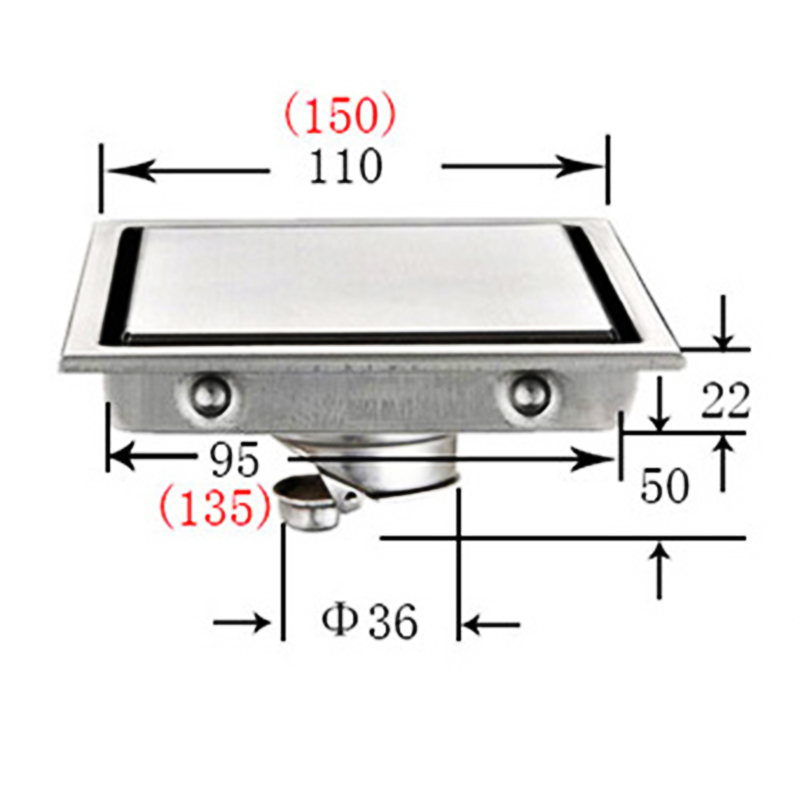 miniatura 17 - PILETTA di scarico in acciaio inox bagno cucina stanza umida dei rifiuti Doccia Trappola IDRAULICA