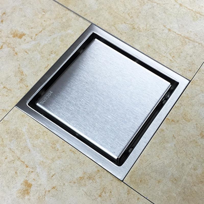 miniatura 14 - 304 IN ACCIAIO INOX SCARICO di doccia scadenza Pavimento Scarico befliesbar 150mm