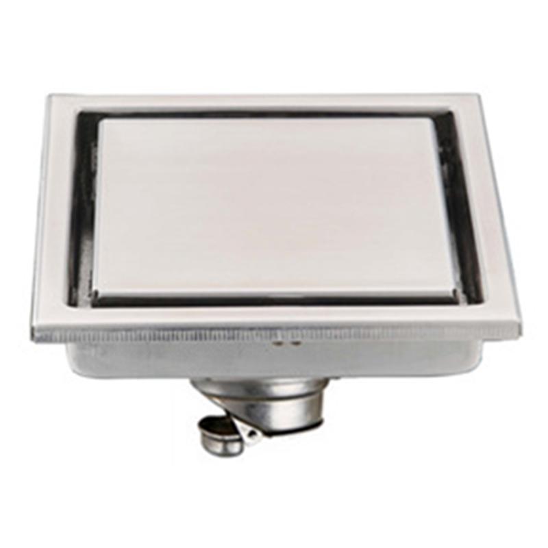 miniatura 15 - 304 IN ACCIAIO INOX SCARICO di doccia scadenza Pavimento Scarico befliesbar 150mm