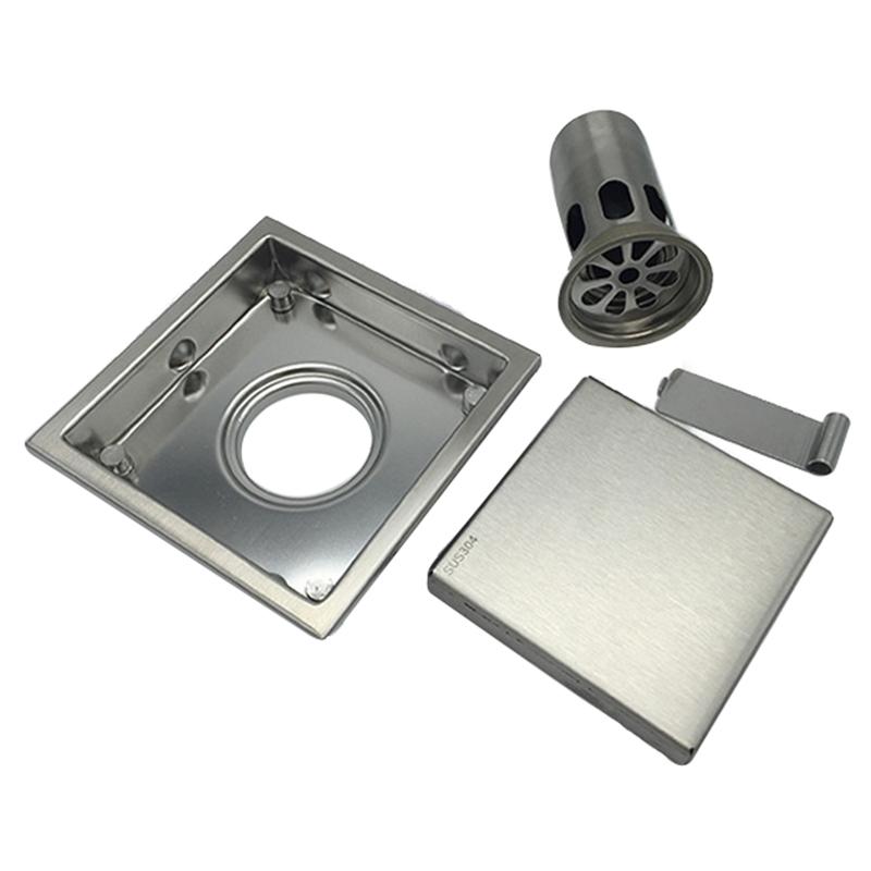 miniatura 19 - 304 IN ACCIAIO INOX SCARICO di doccia scadenza Pavimento Scarico befliesbar 150mm