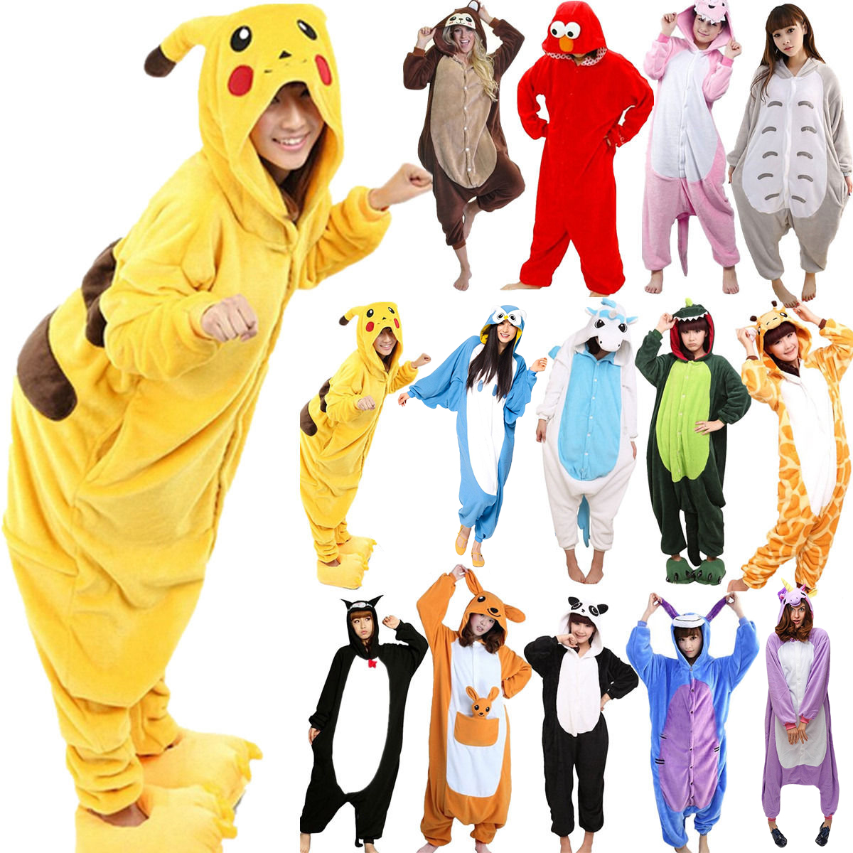 Disciplinato Bambini Animale Per Adulti Pigiama Kigurumi Unisex Tutina Costume Cosplay 6a Nightwear-mostra Il Titolo Originale