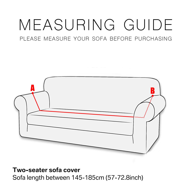 Housse-Revetement-de-Canape-Tissu-Elastique-Extensible-Compatible-1-2-3-4-Places miniature 5