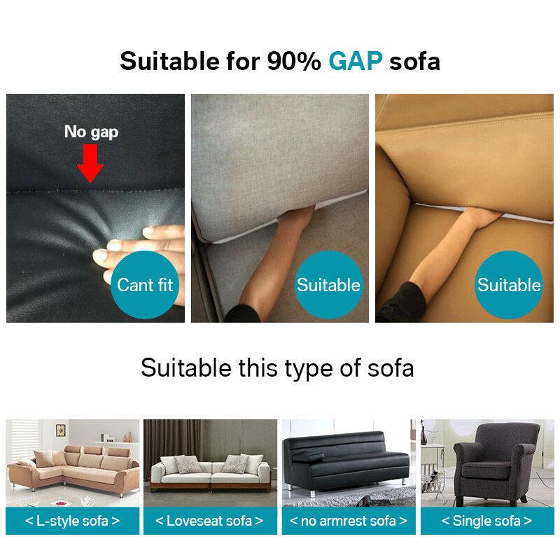 Housse-Revetement-de-Canape-Tissu-Elastique-Extensible-Compatible-1-2-3-4-Places miniature 7