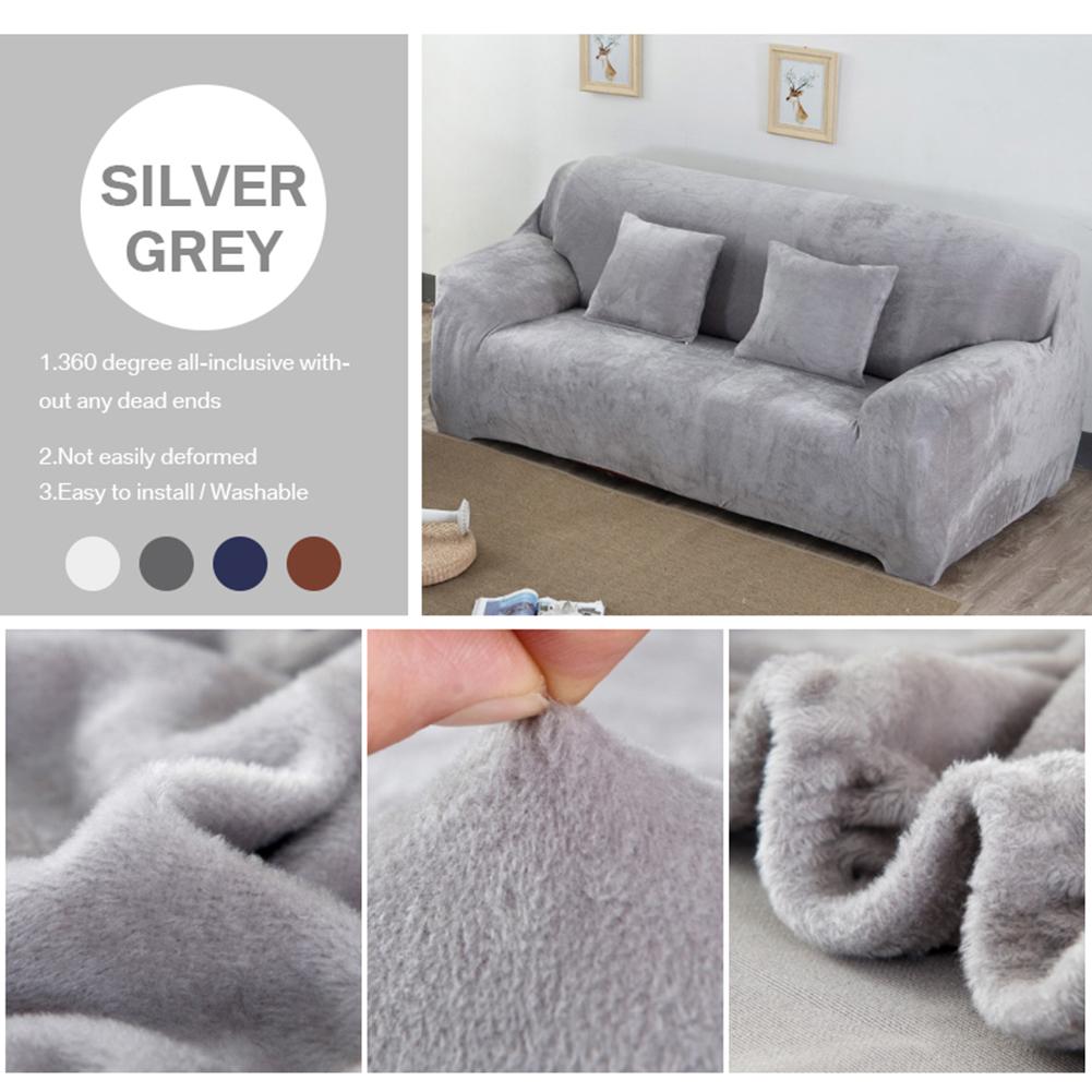 Housse-Revetement-de-Canape-Tissu-Elastique-Extensible-Compatible-1-2-3-4-Places miniature 10