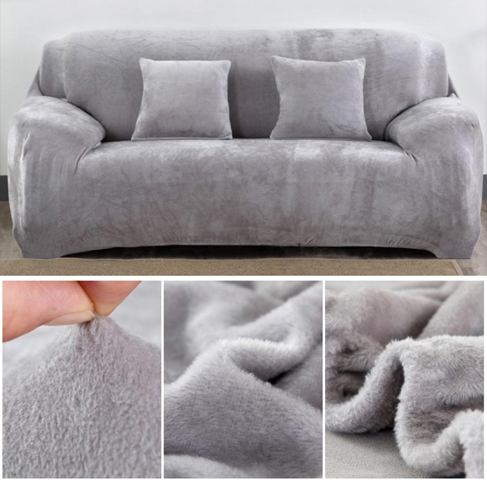 Housse-Revetement-de-Canape-Tissu-Elastique-Extensible-Compatible-1-2-3-4-Places miniature 27
