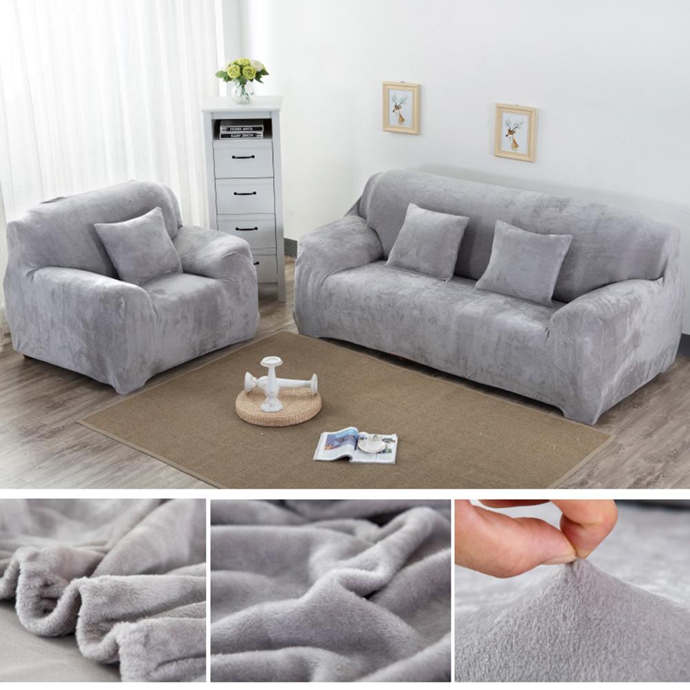 Housse-Revetement-de-Canape-Tissu-Elastique-Extensible-Compatible-1-2-3-4-Places miniature 28
