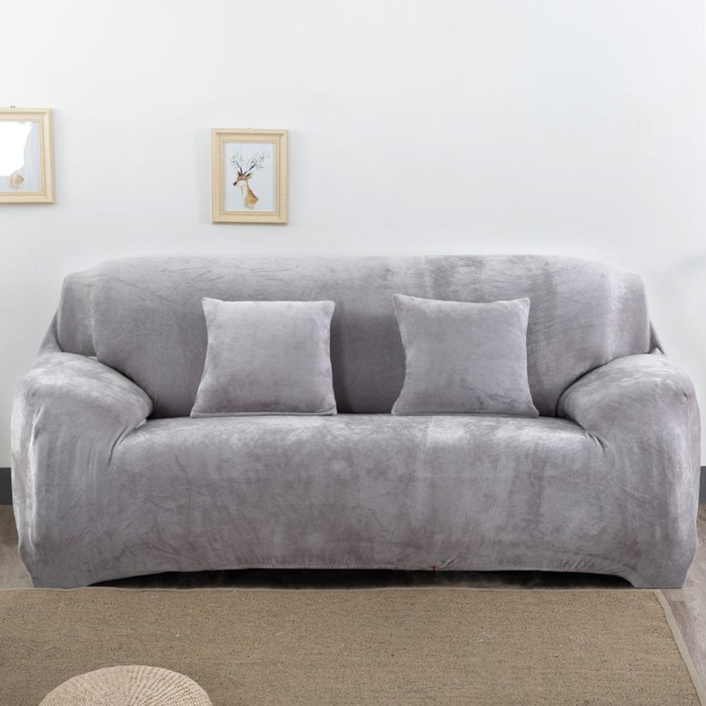 Housse-Revetement-de-Canape-Tissu-Elastique-Extensible-Compatible-1-2-3-4-Places miniature 31
