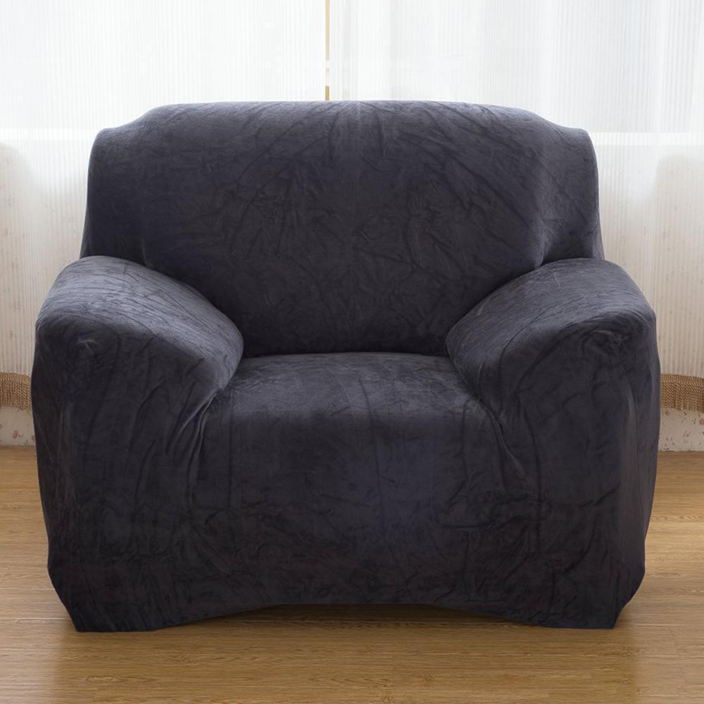 Housse-Revetement-de-Canape-Tissu-Elastique-Extensible-Compatible-1-2-3-4-Places miniature 41