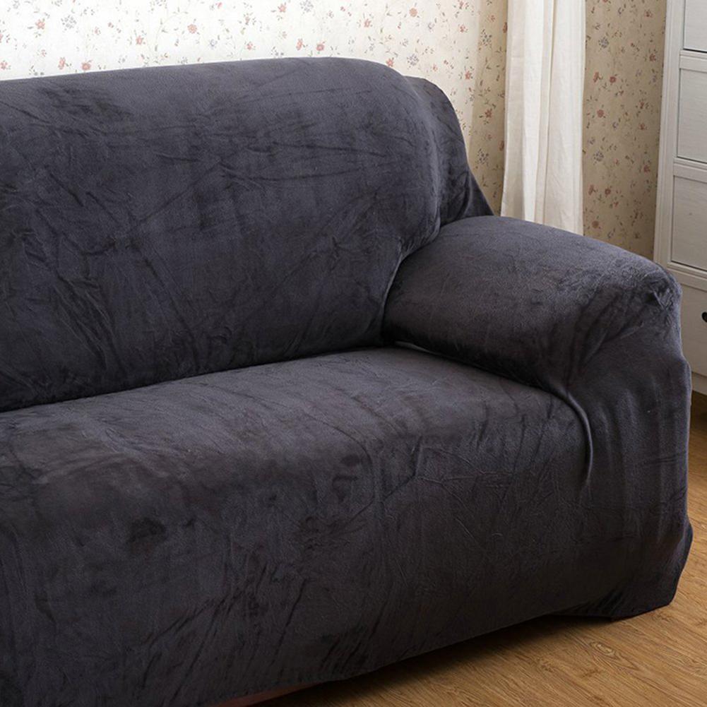 Housse-Revetement-de-Canape-Tissu-Elastique-Extensible-Compatible-1-2-3-4-Places miniature 42