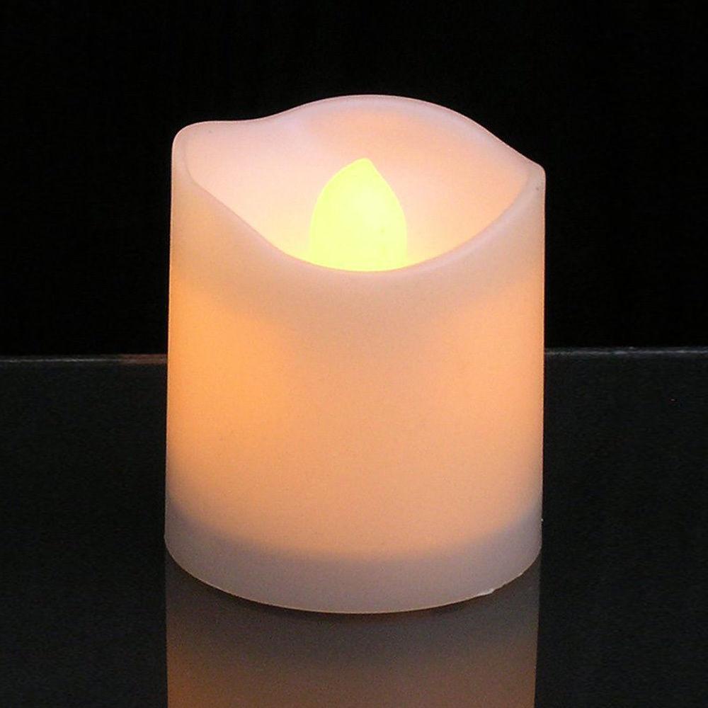 24pz-Candele-Tremolante-Candela-TEALIGHT-a-Led-Luce-Oscillante-Con-Telecomando miniatura 24