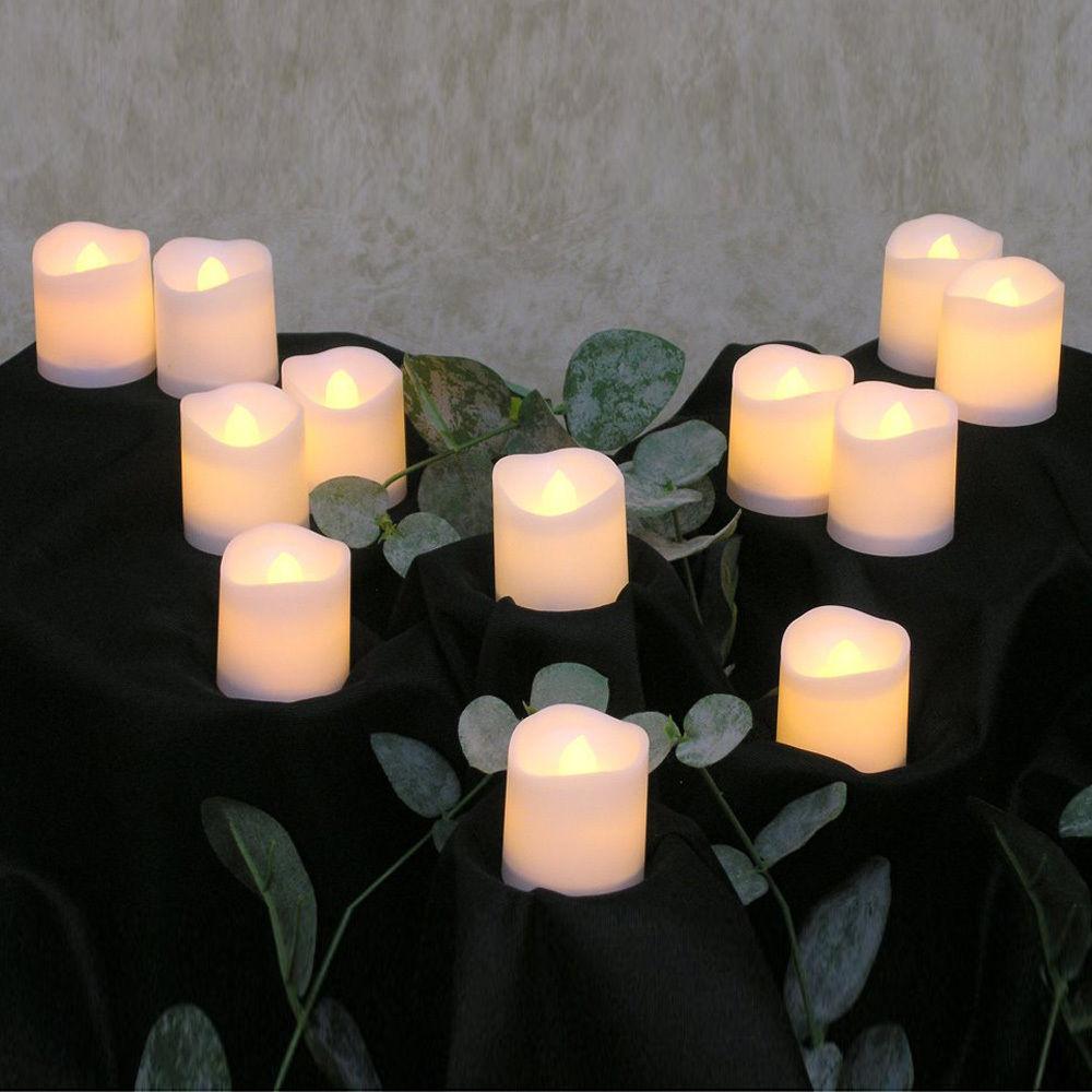 24pz-Candele-Tremolante-Candela-TEALIGHT-a-Led-Luce-Oscillante-Con-Telecomando miniatura 26