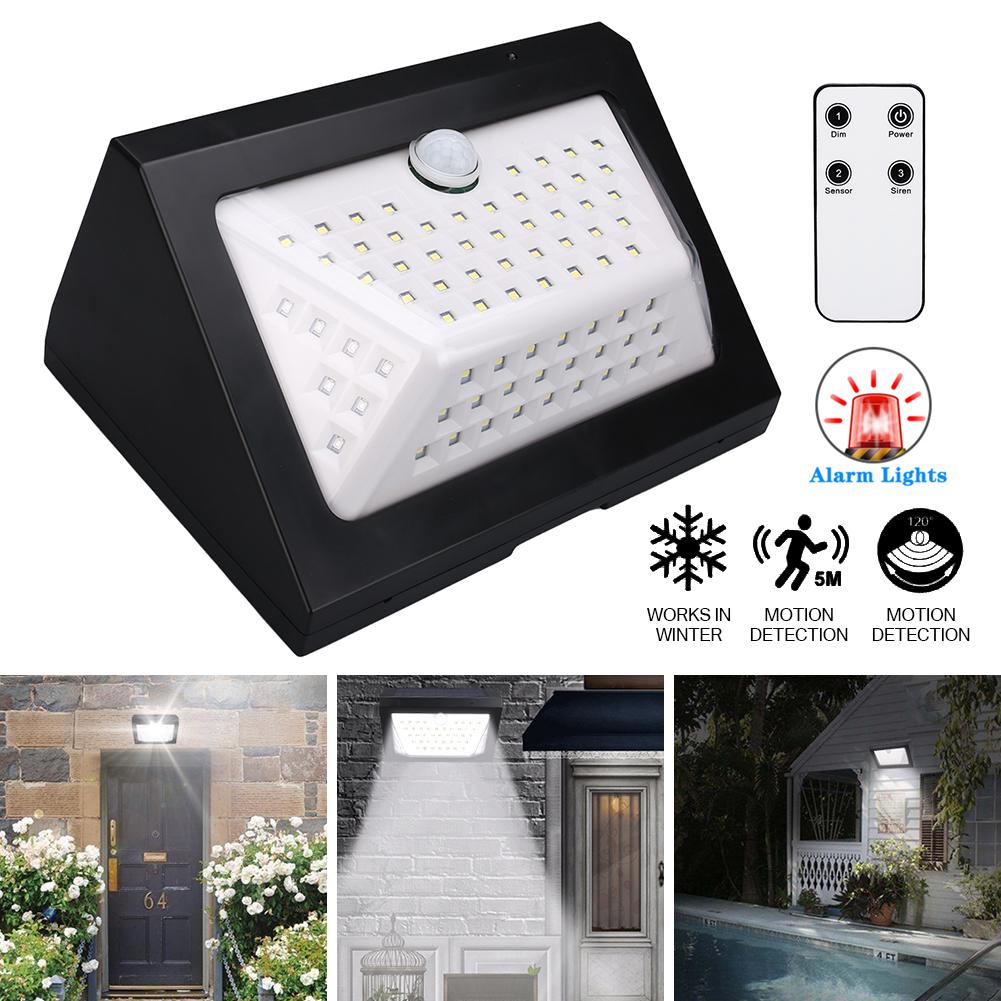 80LED Lampe Solaire Eclairage de Jardin Applique Murale Détecteur Mouvement  IP65 | eBay