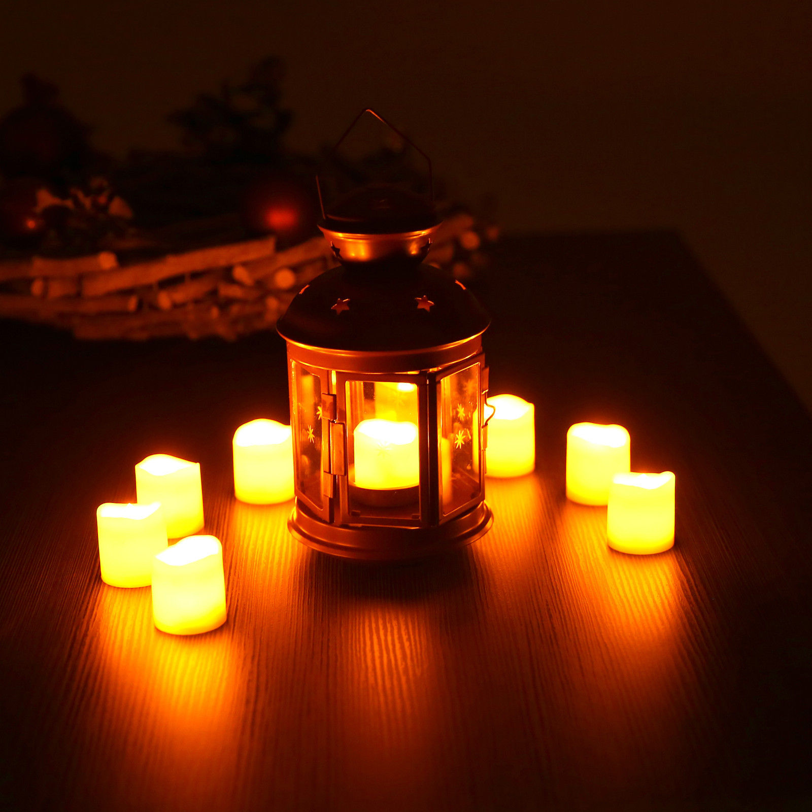 24pz-Candele-Tremolante-Candela-TEALIGHT-a-Led-Luce-Oscillante-Con-Telecomando miniatura 28