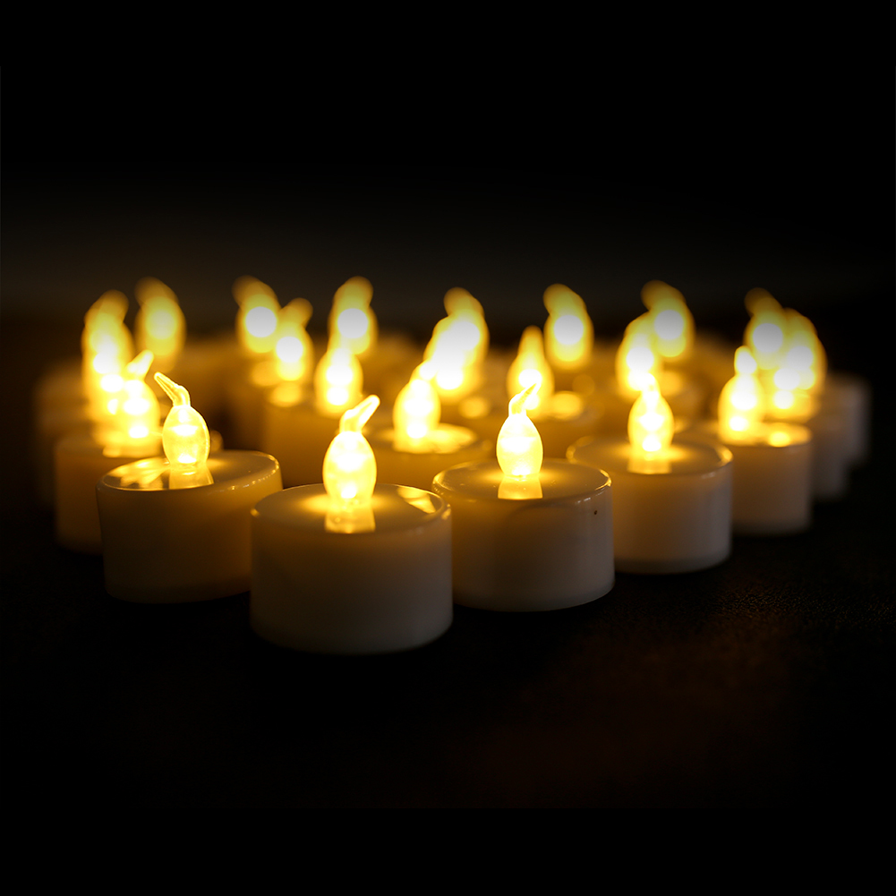 24-X-Tremolante-Senza-Fiamma-LED-CANDELE-LUMINI-TEA-LIGHTS-BATTERIA-operato miniatura 14