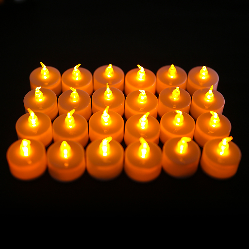 24-X-Tremolante-Senza-Fiamma-LED-CANDELE-LUMINI-TEA-LIGHTS-BATTERIA-operato miniatura 18