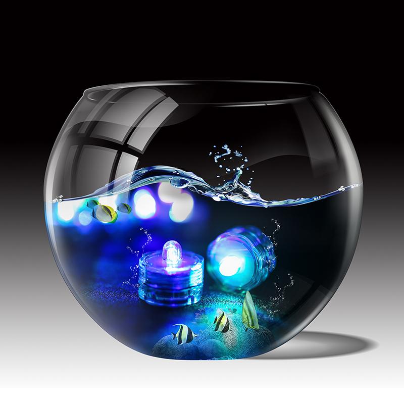 SOMMERGIBILE-Impermeabile-a-batteria-luci-LED-Triplo-da-te-all-039-acqua-Floralyte-Brillante miniatura 14