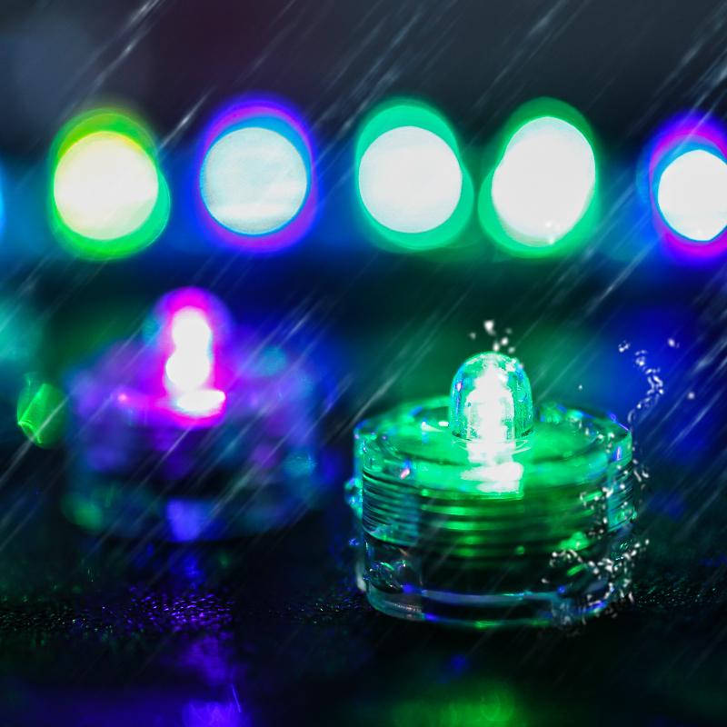 SOMMERGIBILE-Impermeabile-a-batteria-luci-LED-Triplo-da-te-all-039-acqua-Floralyte-Brillante miniatura 15