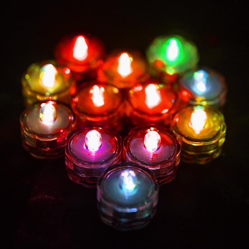 SOMMERGIBILE-Impermeabile-a-batteria-luci-LED-Triplo-da-te-all-039-acqua-Floralyte-Brillante miniatura 18