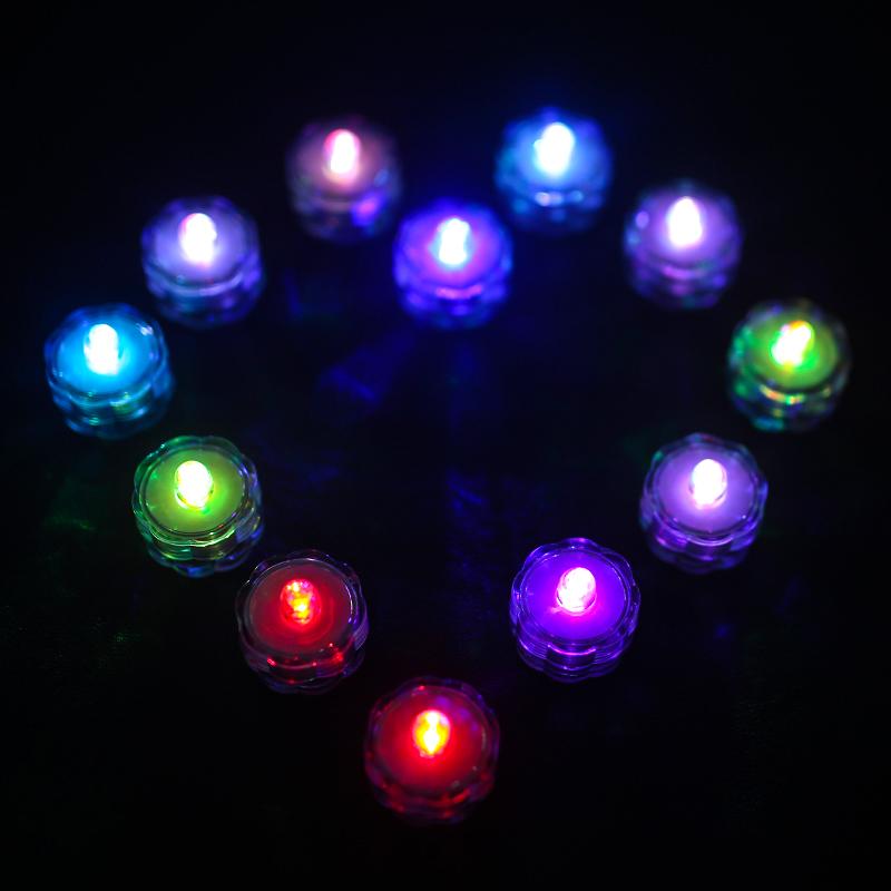 SOMMERGIBILE-Impermeabile-a-batteria-luci-LED-Triplo-da-te-all-039-acqua-Floralyte-Brillante miniatura 19