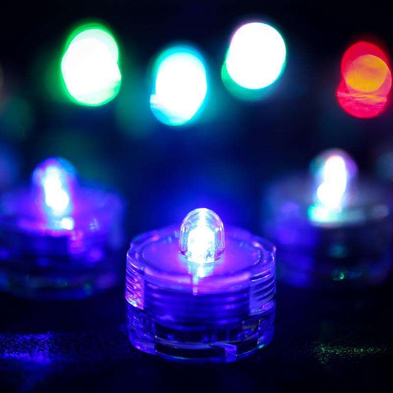 SOMMERGIBILE-Impermeabile-a-batteria-luci-LED-Triplo-da-te-all-039-acqua-Floralyte-Brillante miniatura 20