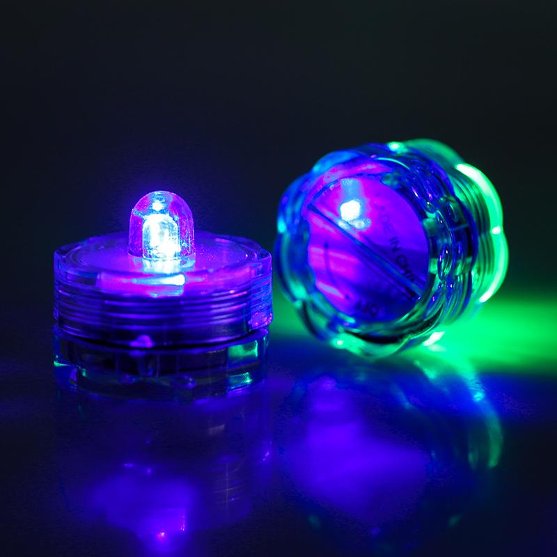 SOMMERGIBILE-Impermeabile-a-batteria-luci-LED-Triplo-da-te-all-039-acqua-Floralyte-Brillante miniatura 21
