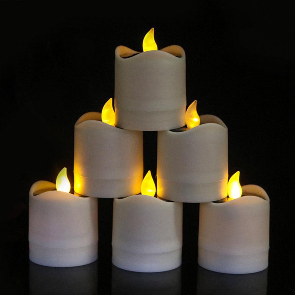 Senza-Fiamma-LED-Candela-Energia-Solare-Alimentato-Tremolante-Te-Luci-a-Batterie miniatura 15