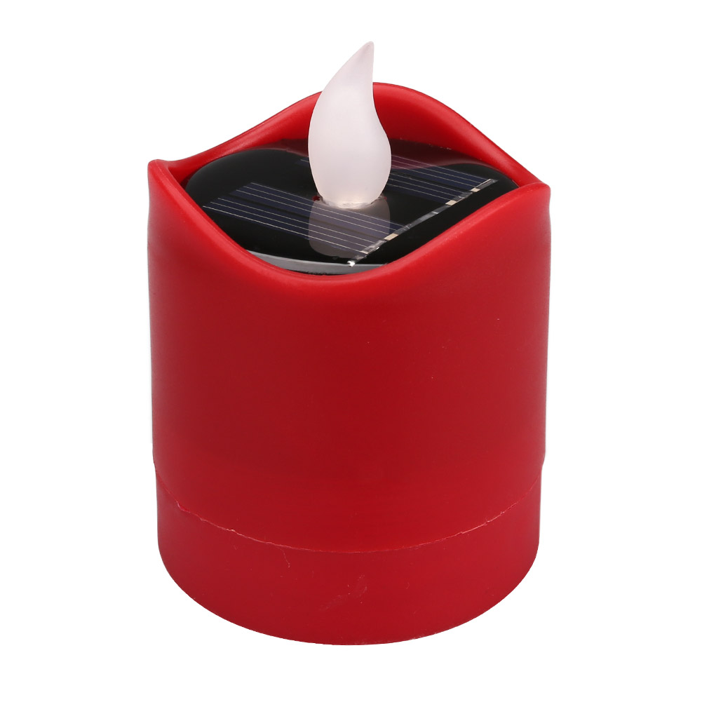 Senza-Fiamma-LED-Candela-Energia-Solare-Alimentato-Tremolante-Te-Luci-a-Batterie miniatura 32
