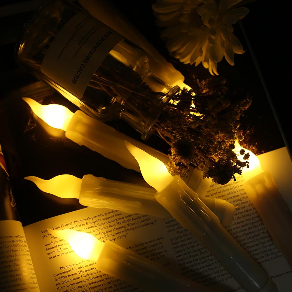12PCS-LED-senza-fiamma-stile-Aviator-lo-sfarfallio-a-Batteria-Candele-Luci-Festa-Decor miniatura 3