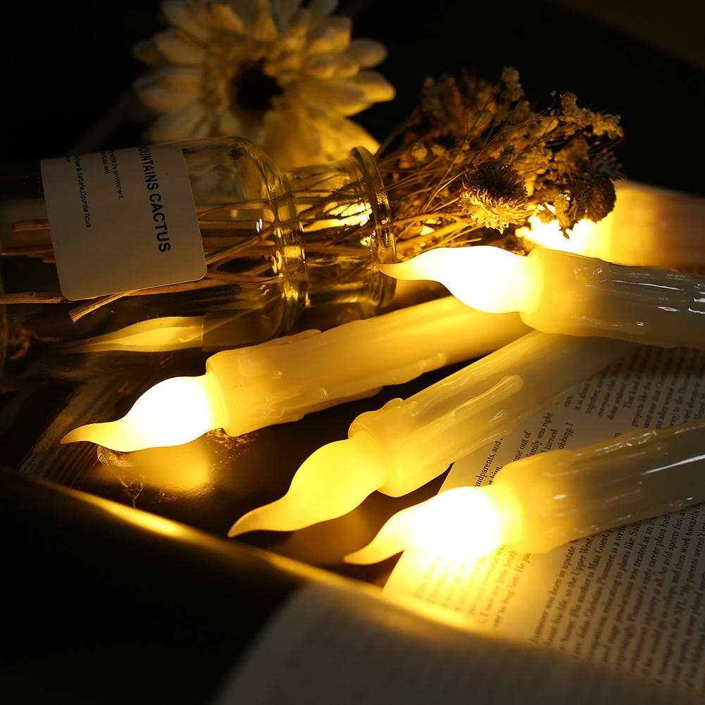 12PCS-LED-senza-fiamma-stile-Aviator-lo-sfarfallio-a-Batteria-Candele-Luci-Festa-Decor miniatura 4
