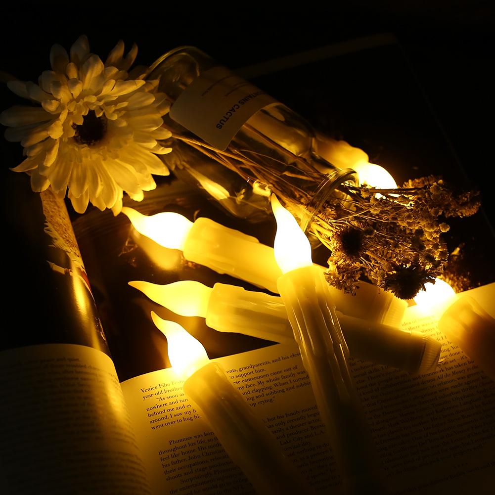 12PCS-LED-senza-fiamma-stile-Aviator-lo-sfarfallio-a-Batteria-Candele-Luci-Festa-Decor miniatura 5