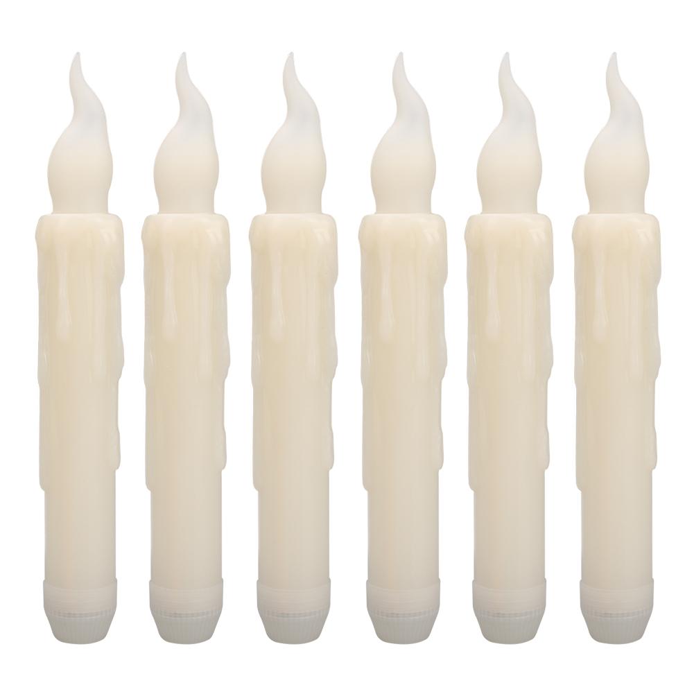 12PCS-LED-senza-fiamma-stile-Aviator-lo-sfarfallio-a-Batteria-Candele-Luci-Festa-Decor miniatura 14