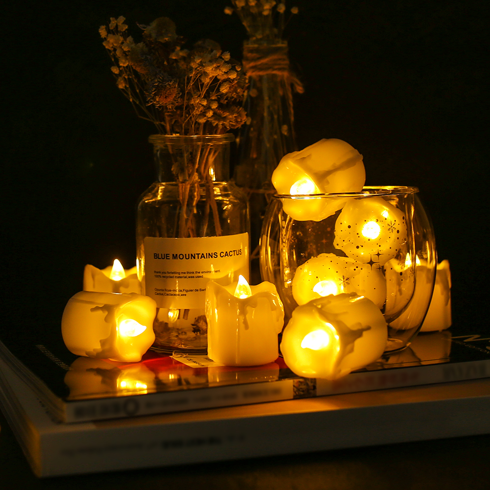 12Pcs-LED-Realistico-Finta-Senza-Fiamma-Candele-Tremolante-TEA-LIGHT-Home-Decor miniatura 16