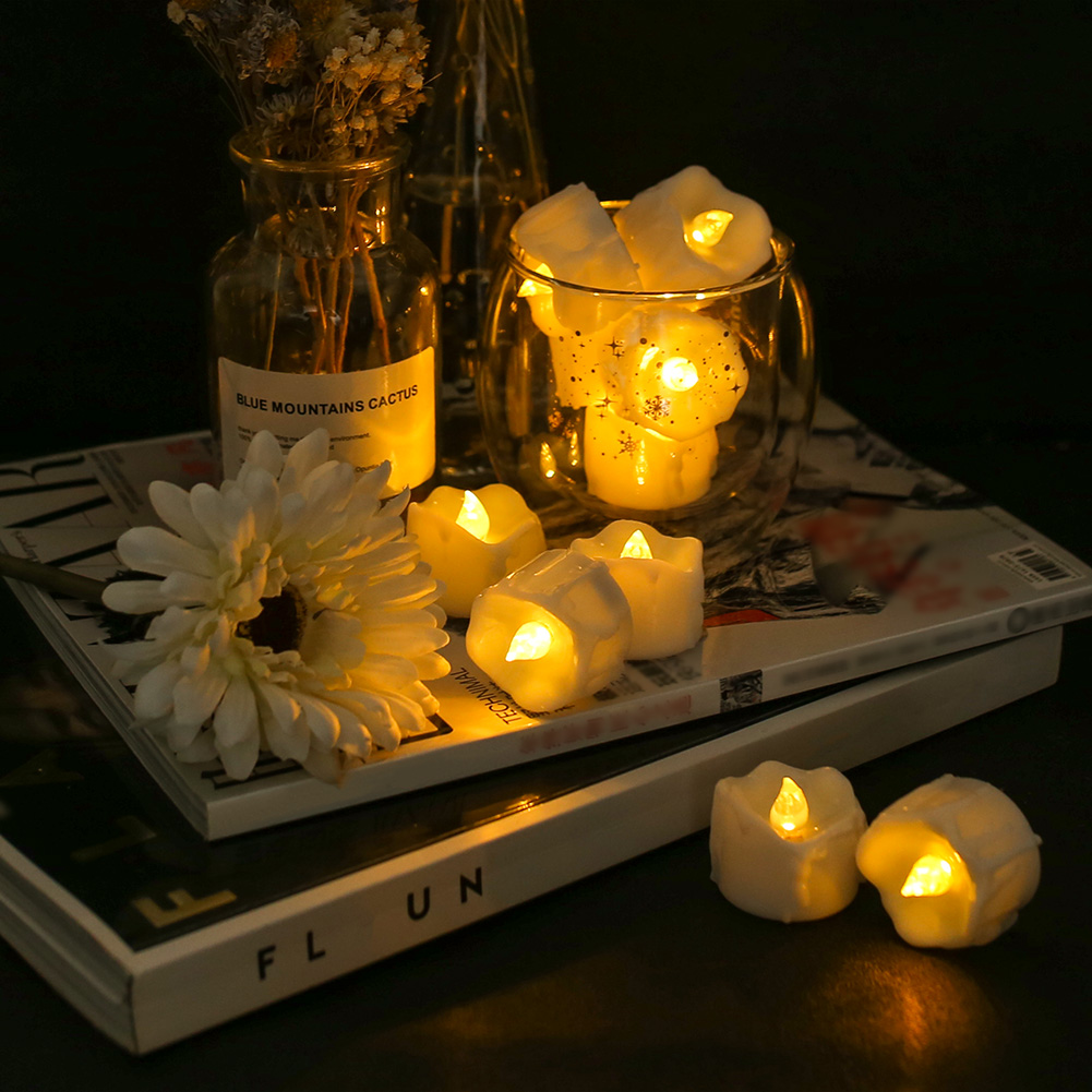 12Pcs-LED-Realistico-Finta-Senza-Fiamma-Candele-Tremolante-TEA-LIGHT-Home-Decor miniatura 39