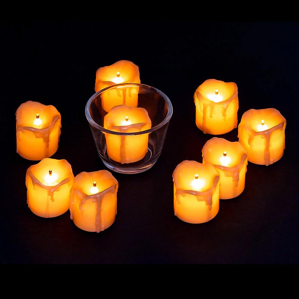 24-PEZZI-CANDELE-LUMINI-LED-senza-fiamma-CANDELINE-Lume-di-candela-Tremolante miniatura 18
