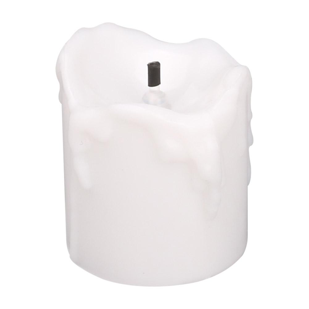 24-PEZZI-CANDELE-LUMINI-LED-senza-fiamma-CANDELINE-Lume-di-candela-Tremolante miniatura 19