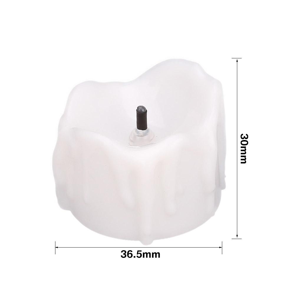 24-PEZZI-CANDELE-LUMINI-LED-senza-fiamma-CANDELINE-Lume-di-candela-Tremolante miniatura 25