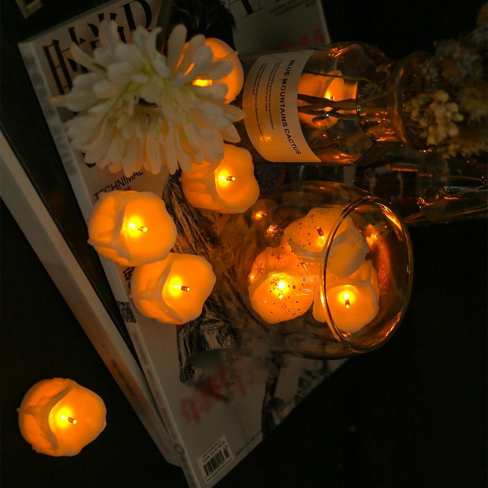 24-PEZZI-CANDELE-LUMINI-LED-senza-fiamma-CANDELINE-Lume-di-candela-Tremolante miniatura 26
