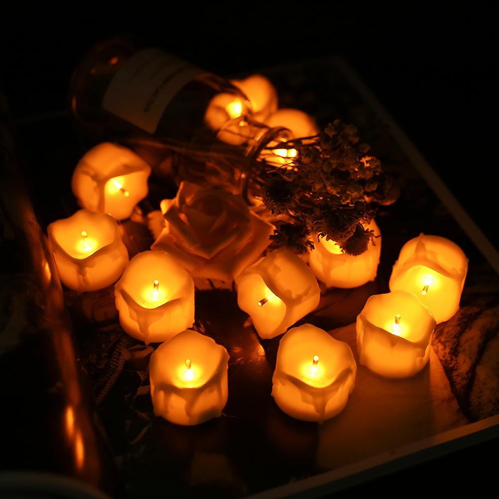 24-PEZZI-CANDELE-LUMINI-LED-senza-fiamma-CANDELINE-Lume-di-candela-Tremolante miniatura 27