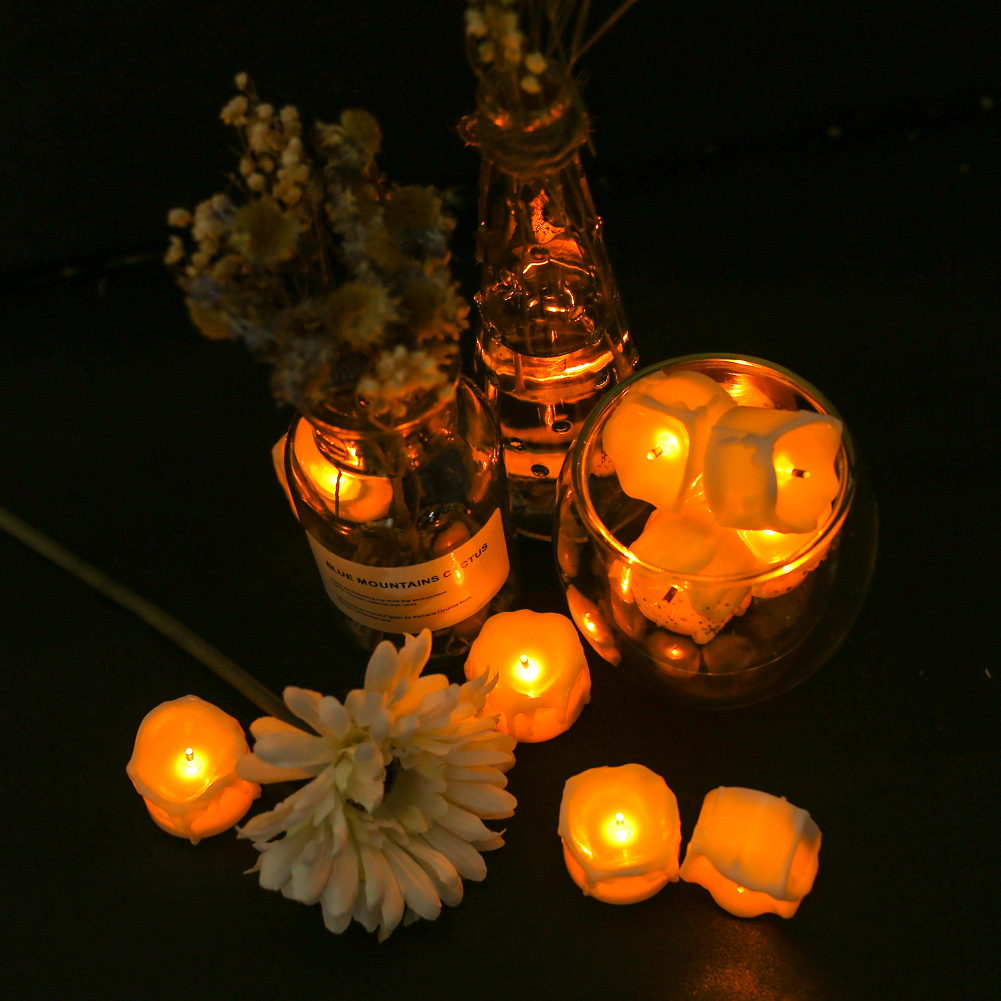24-PEZZI-CANDELE-LUMINI-LED-senza-fiamma-CANDELINE-Lume-di-candela-Tremolante miniatura 28