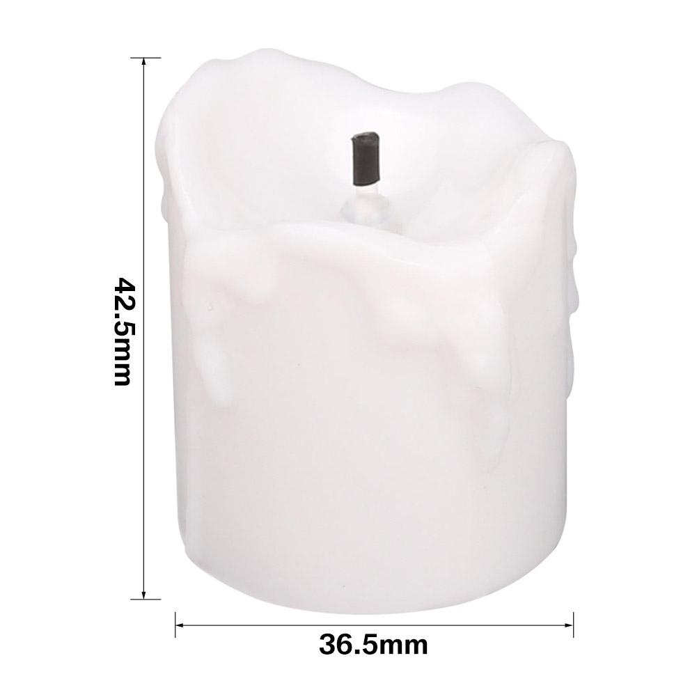 24-PEZZI-CANDELE-LUMINI-LED-senza-fiamma-CANDELINE-Lume-di-candela-Tremolante miniatura 34