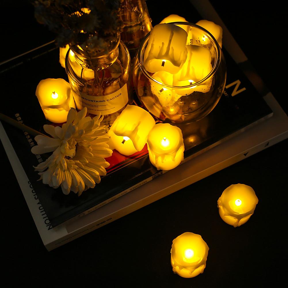 24-PEZZI-CANDELE-LUMINI-LED-senza-fiamma-CANDELINE-Lume-di-candela-Tremolante miniatura 36