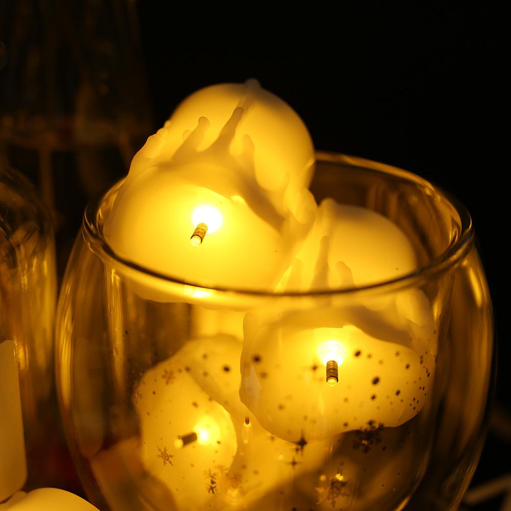 24-PEZZI-CANDELE-LUMINI-LED-senza-fiamma-CANDELINE-Lume-di-candela-Tremolante miniatura 37