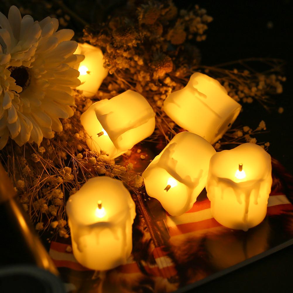 24-PEZZI-CANDELE-LUMINI-LED-senza-fiamma-CANDELINE-Lume-di-candela-Tremolante miniatura 38