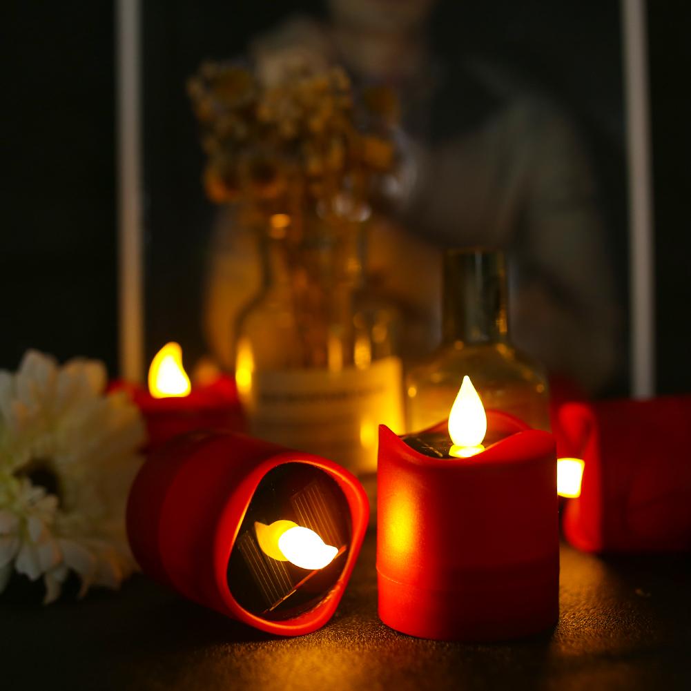 12x-LED-luce-del-te-Candele-sfarfallio-energia-solare-senza-fiamma-Lumini-Wedding-Decor miniatura 28