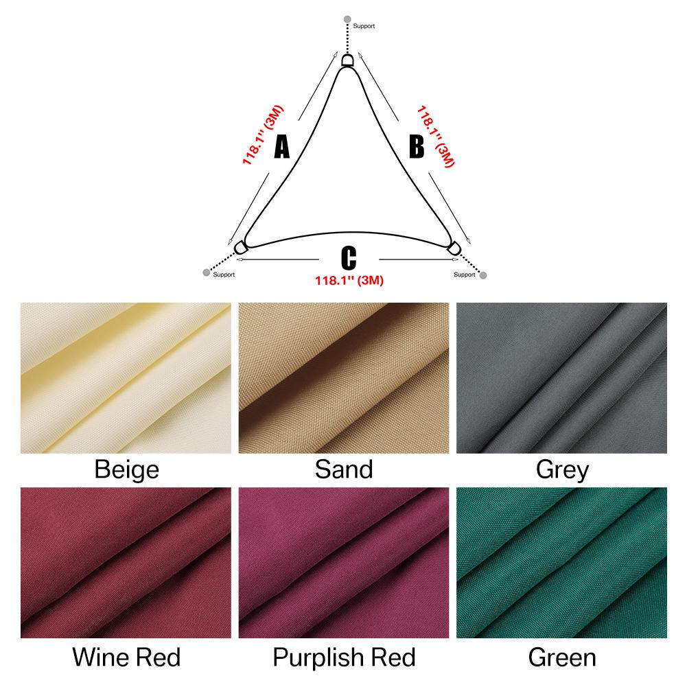 miniatura 13 - Tenda a vela triangolare ombreggiante telo da sole ombra giardino parasole
