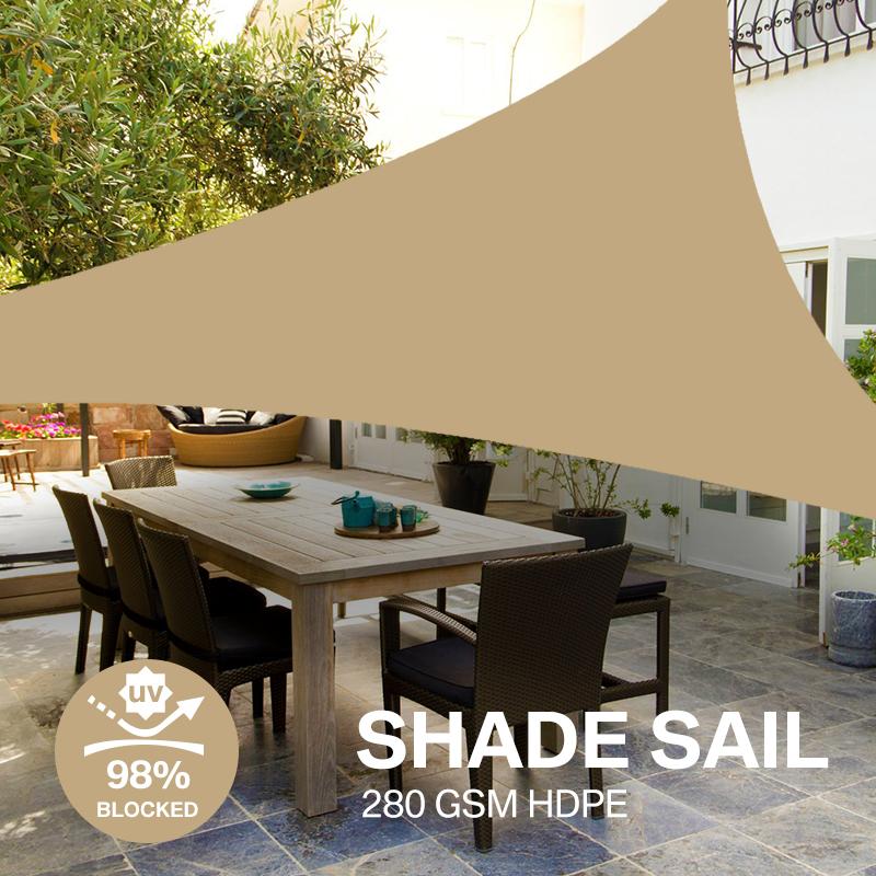 miniatura 17 - Tenda a vela triangolare ombreggiante telo da sole ombra giardino parasole