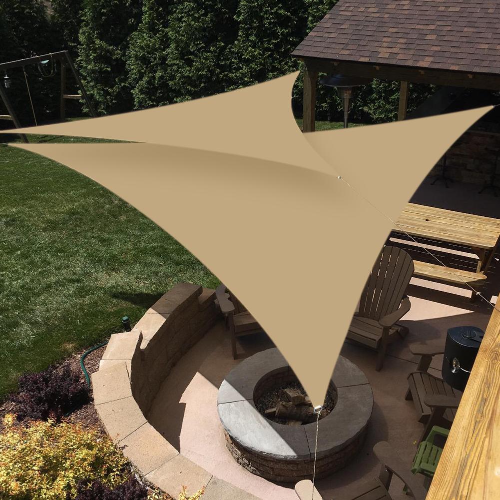 miniatura 18 - Tenda a vela triangolare ombreggiante telo da sole ombra giardino parasole