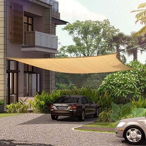 miniatura 28 - Tenda a vela triangolare ombreggiante telo da sole ombra giardino parasole
